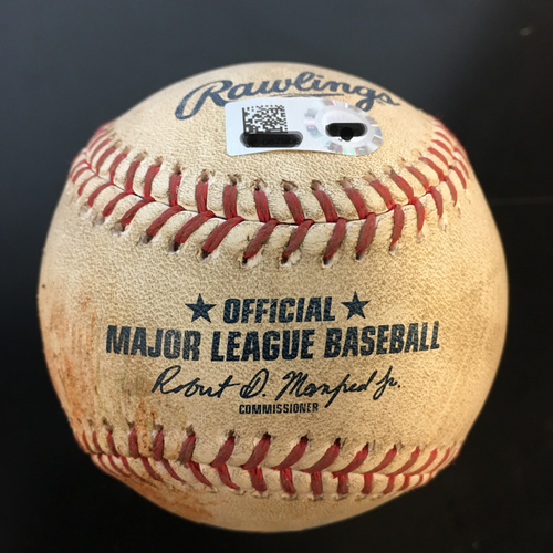 Photo of Game-Used Baseball: Brian McCann Single