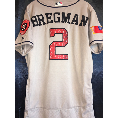 Photo of Game-Used Stars and Stripes Road Jersey: Alex Bregman