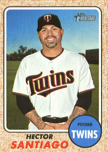 Photo of 2017 Topps Heritage #571 Hector Santiago -- Twins post-season