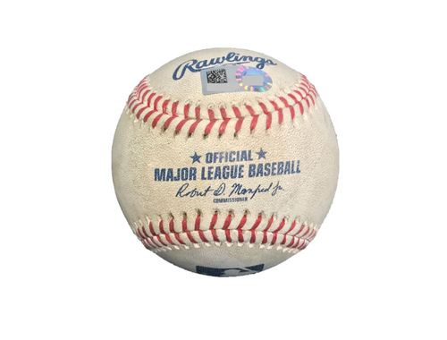 Photo of Game-Used Baseball from Pirates vs. Dodgers on 8/21/17 - Cole to Utley, Foul