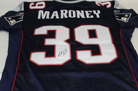 PATRIOTS - LAURENCE MARONEY SIGNED PATRIOTS AUTHENTIC HOME JERSEY - SIZE 48