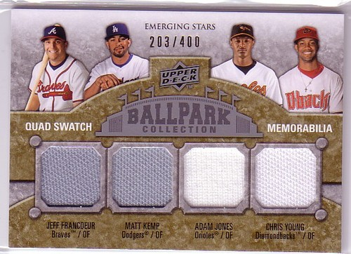 Photo of 2009 Upper Deck Ballpark Collection #231 Chris B. Young/Matt Kemp/Adam Jones/Jeff Francoeur/400