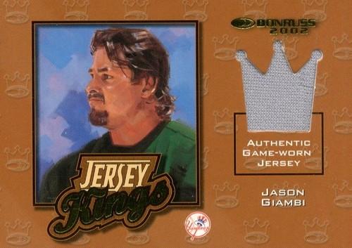 Photo of 2002 Donruss Jersey Kings #2 Jason Giambi