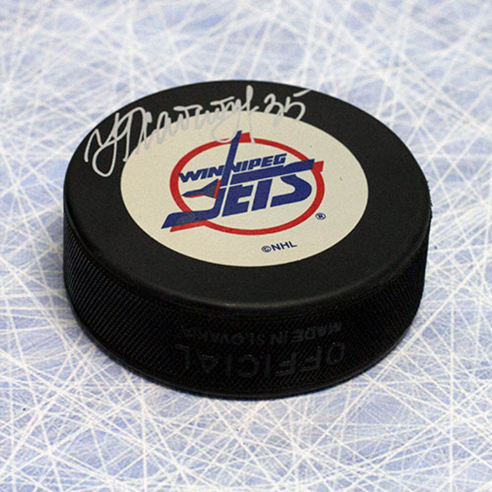 Nikolai Khabibulin Winnipeg Jets Autographed Retro Hockey Puck