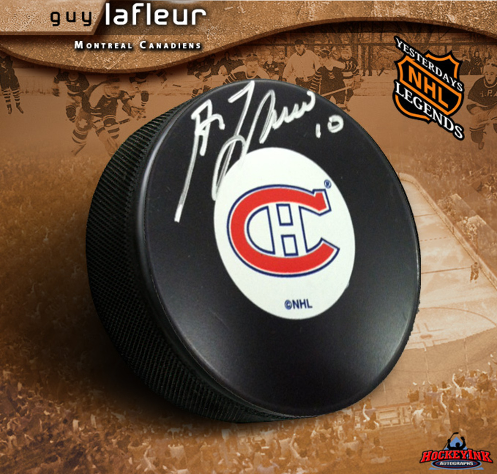 GUY LAFLEUR Signed Montreal Canadiens Puck