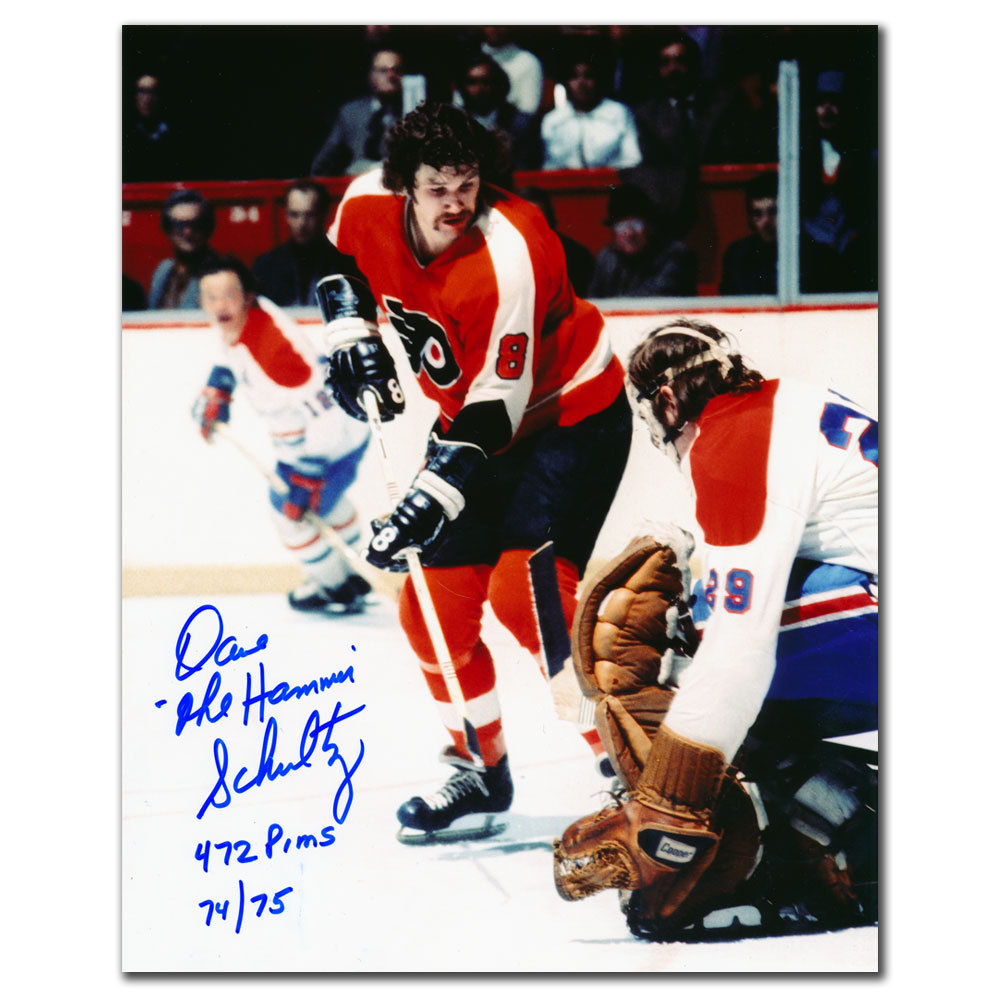 Dave Schultz Philadelphia Flyers vs. Dryden Autographed 8x10