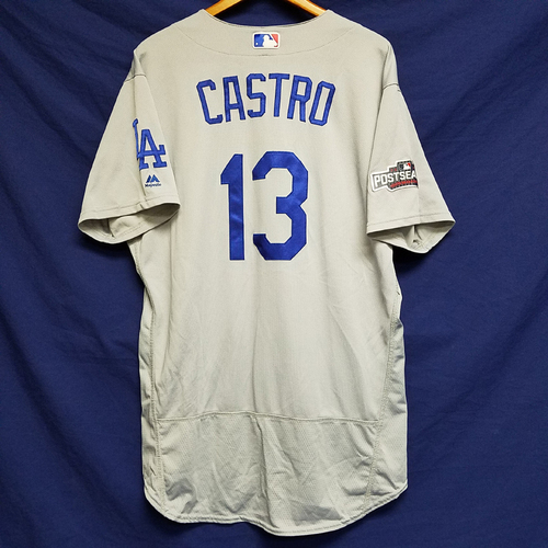 Photo of Juan Castro 2016 Game-Used Road Playoff Jersey vs Chicago Cubs - NLCS Game 6