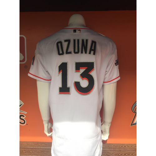 Photo of Marcell Ozuna's Grand Slam Jersey