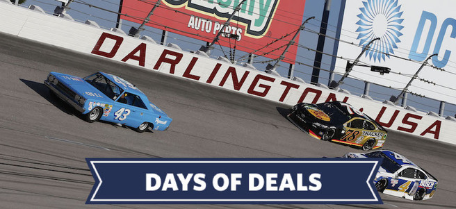 NASCAR PHOTO W/THE CHAMPION DRIVER AT DARLINGTON RACEWAY - PACKAGE 2 of 4