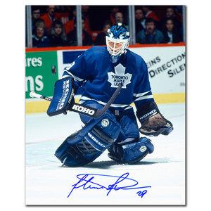 Felix Potvin Toronto Maple Leafs BIG SAVE Autographed 8x10