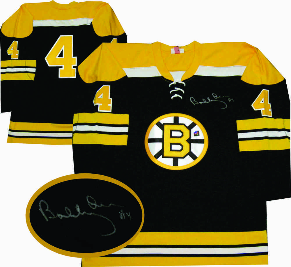 Bobby Orr - Signed 1972 Boston Bruins Reebok Premier Dark Jersey