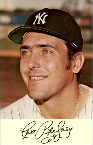Photo of 1971 Yankees Clinic Day Postcards #2 Curt Blefary