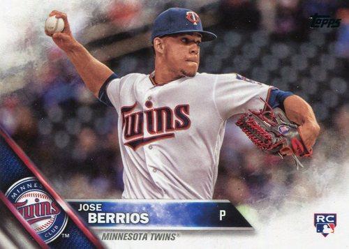 Photo of 2016 Topps Update #US176A Jose Berrios -- Minnesota Twins rookie card
