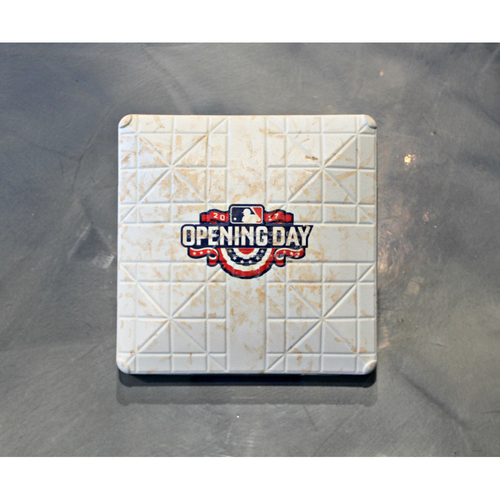 Photo of Game-Used Opening Day 2nd Base: Innings 5-6 (April 10, 2017 - OAK at KC)