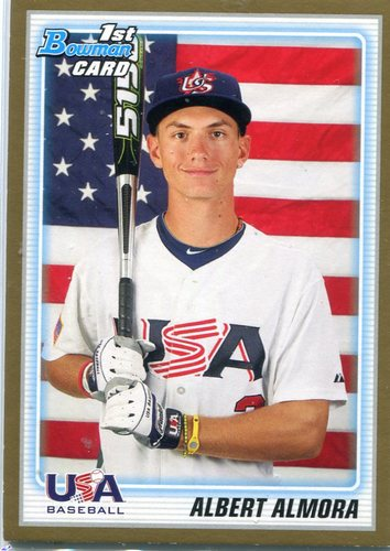 Photo of 2010 Bowman Draft Prospects Gold #BDPP57 Albert Almora Chicago Cubs post-season