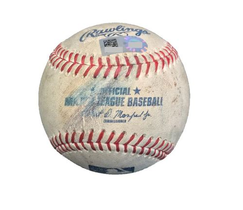 Photo of Game-Used Baseball from Pirates vs. Dodgers on 8/24/17 - Ryu to Freese, 3 Pitches/Foul