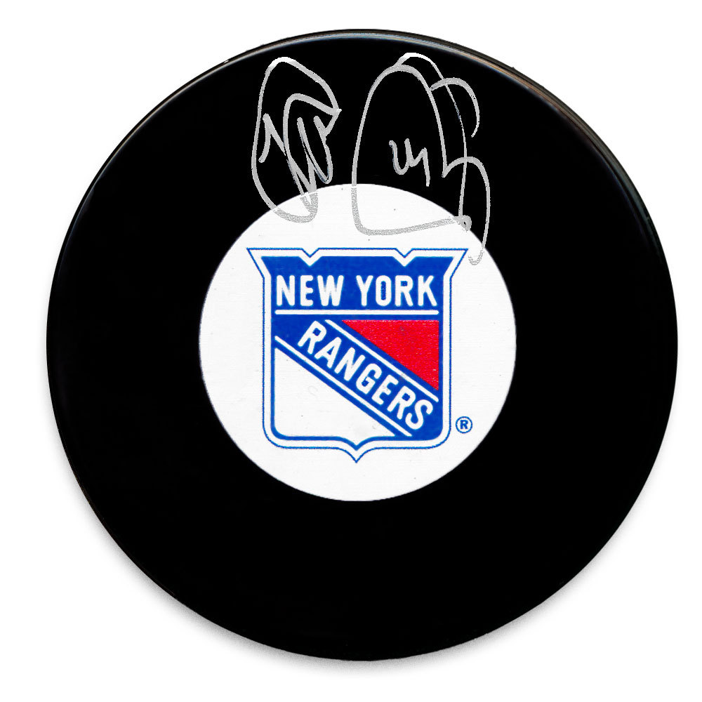 Theo Fleury New York Rangers Autographed Puck