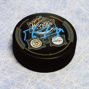 Marc-Andre Fleury Pittsburgh Penguins Autographed 2011 Winter Classic Puck