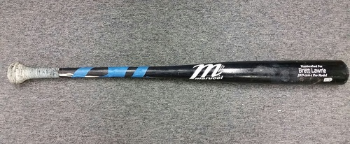 Photo of Authenticated Brett Lawrie Game Used Broken Bat - May 8, 2013 at Tampa Bay Rays