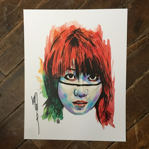Photo of Asuka SIGNED 11 x 14 Rob Schamberger Print