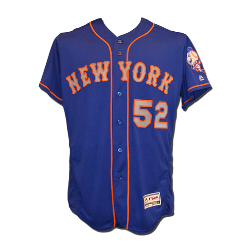 Photo of Yoenis Cespedes #52 - Team Issued Blue Alternate Road Jersey - 2016 Season