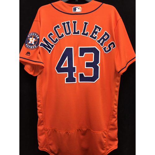 Photo of Team-Issued 2016 Lance McCullers Orange Alternate Jersey