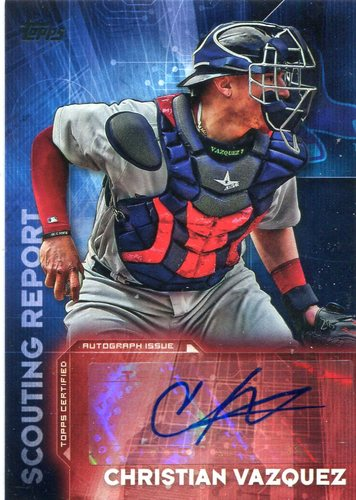 Photo of 2016 Topps Scouting Report Autographs #SRACV Christian Vazquez UPD