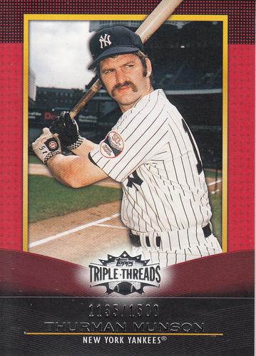 Photo of 2011 Topps Triple Threads #80 Thurman Munson