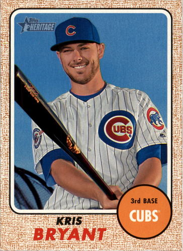 Photo of 2017 Topps Heritage #500A Kris Bryant short print Cubs post-season