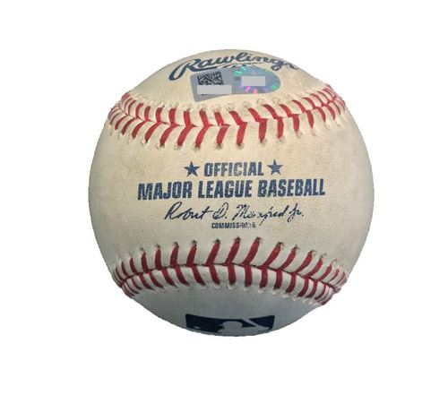 Photo of Game-Used Baseball from Pirates vs. Cubs on 9/6/17 - Quintana to Freese, Osuna - K Looking By Freese, 3 Pitches to Osuna