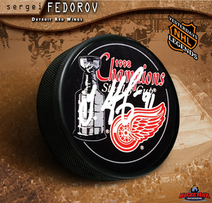 SERGEI FEDOROV Detroit Red Wings 1998 Stanley Cup Puck