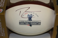PATRIOTS - RANDY MOSS SIGNED PANEL BALL W/ CHARITABLE FOUNDATION LOGO
