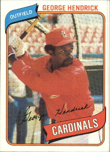 Photo of 1980 Topps #350 George Hendrick