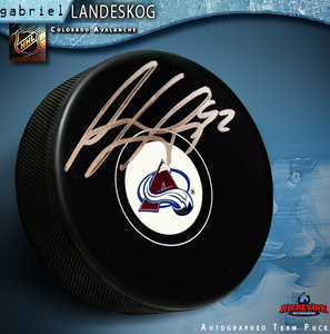 GABRIEL LANDESKOG Signed Colorado Avalanche Puck