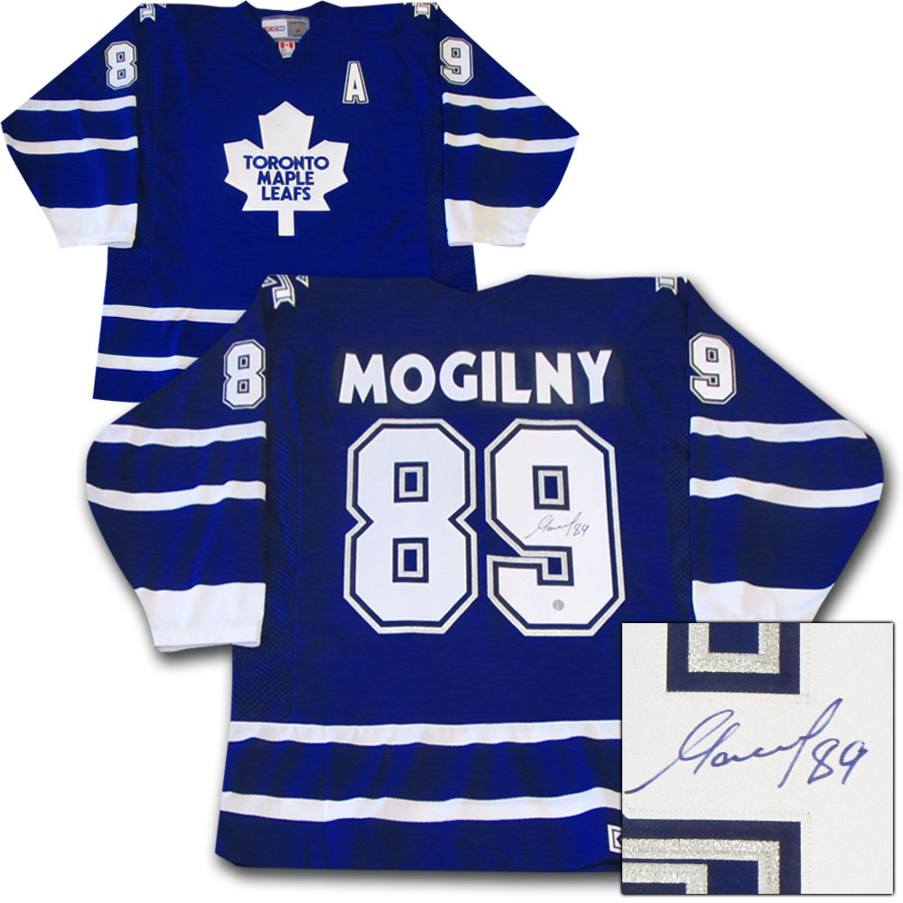 Alexander Mogilny Autographed Toronto Maple Leafs Jersey