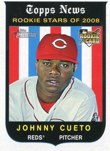 Photo of 2008 Topps Heritage #503 Johnny Cueto RC