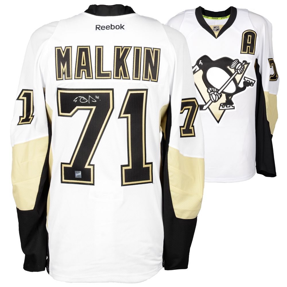 Evgeni Malkin Pittsburgh Penguins Autographed Black Reebok EDGE Jersey - Frameworth