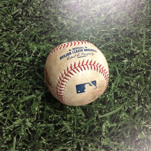 Photo of Game-Used Baseball LAD@MIL 06/02/17 - Kershaw's 2,000th Strikeout Game - Clayton Kershaw to Hernán Pérez: Career Strikeout # 2,005