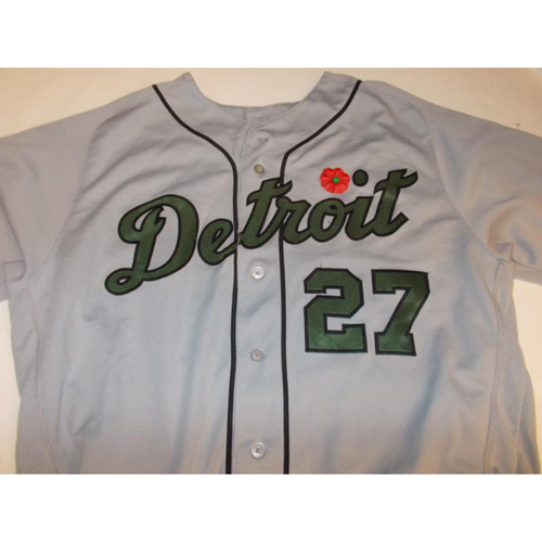 Photo of Game-Used Jordan Zimmermann Memorial Day Jersey