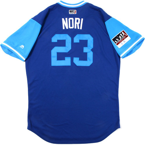 "Photo of Norichika ""Nori"" Aoki Toronto Blue Jays Game-Used Players Weekend Jersey"