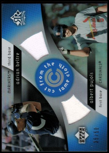 Photo of 2005 Reflections Cut From the Same Cloth Dual Jersey Blue #AA Adrian Beltre/Albert Pujols