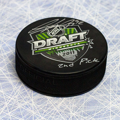 Gabriel Landeskog 2011 NHL Draft Puck Autographed with 2nd Pick Inscription *Kitchener Rangers*