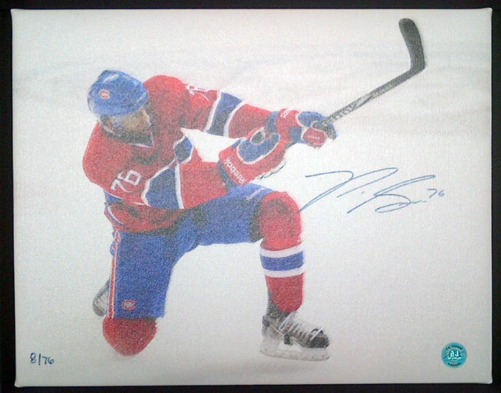 P.K. SUBBAN Montreal Canadiens SIGNED Limited Edition 11x14 Canvas /76