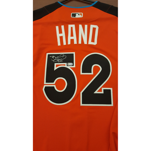 Photo of Brad Hand 2017 Major League Baseball Workout Day/Home Run Derby Autographed Jersey