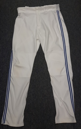 Photo of Authenticated Team Issued White Pants - #30 Dioner Navarro (2015 Season). Size 39-46 34 OB.