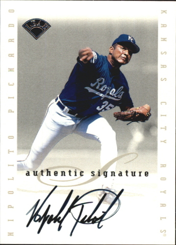 Photo of 1996 Leaf Signature Extended Autographs #160 Hipolito Pichardo