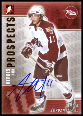 JORDAN STAAL Peterborough Petes SIGNED Pre-Rookie Card