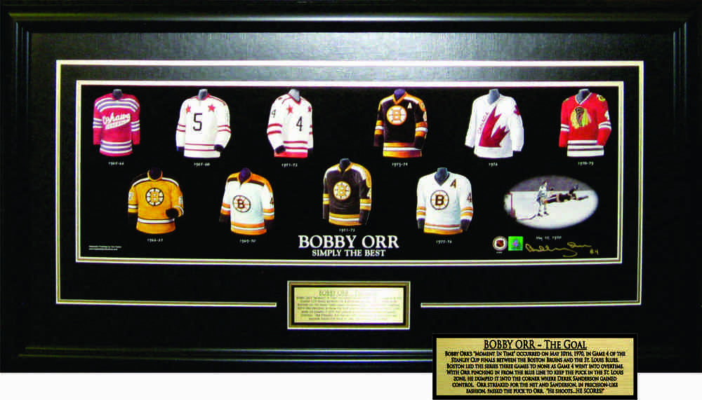 Bobby Orr - Signed & Framed 10x30