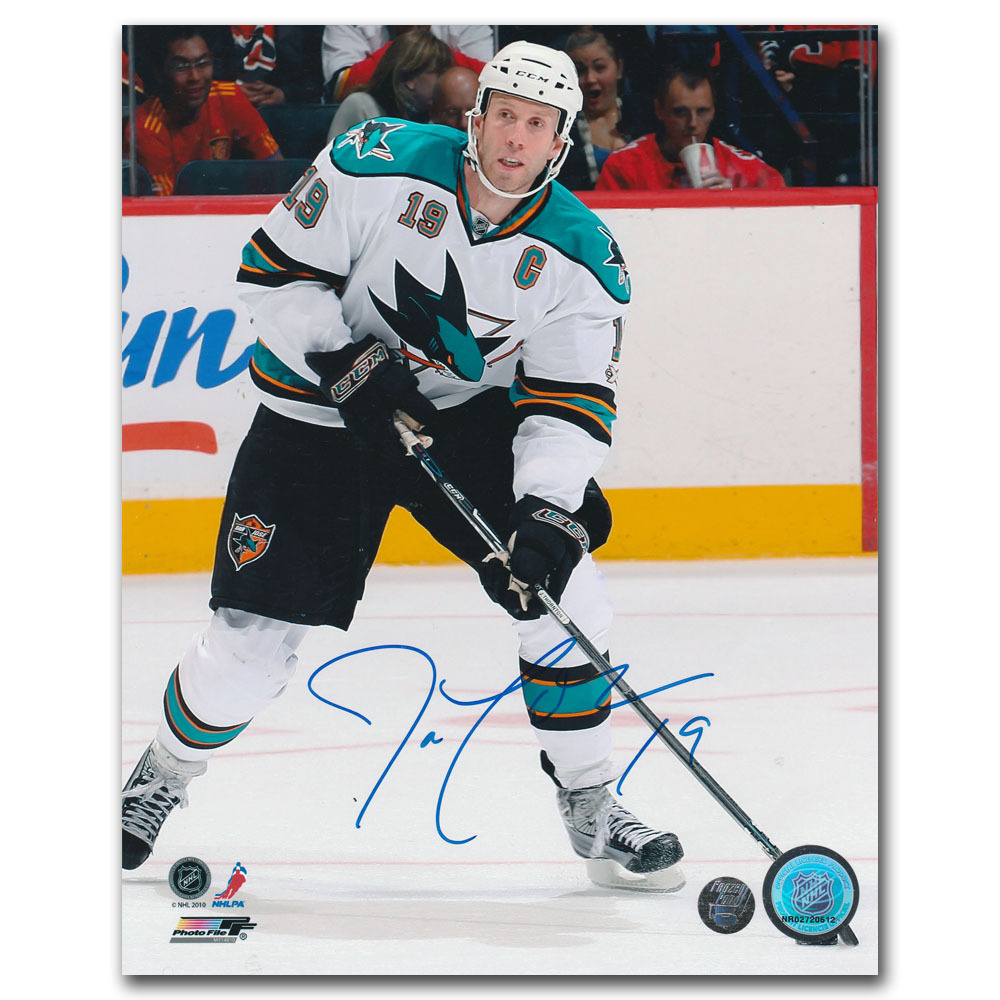 Joe Thornton Autographed San Jose Sharks 8X10 Photo