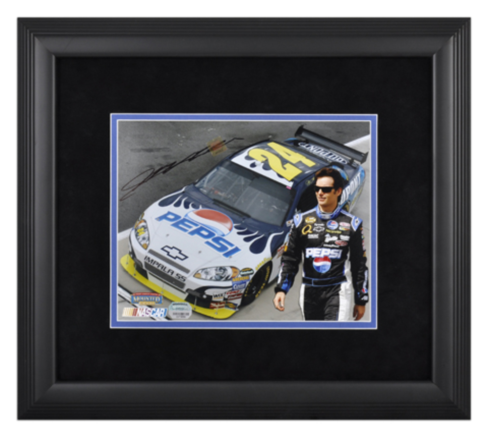 Jeff Gordon Autographed NASCAR Framed 8